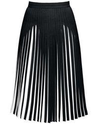 Rumour London - Penelope Black Pleated Two-tone Midi Skirt - Lyst
