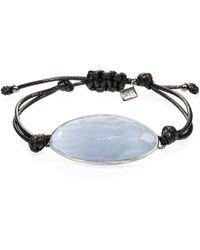 Ona Chan Jewelry - Lattice Corded Bracelet Blue Lace Agate - Lyst