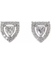 Ri Noor | Fancy Shield Shape Diamond Stud Earrings | Lyst