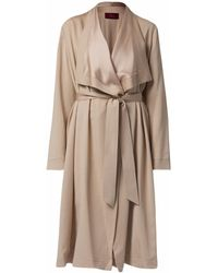 WtR - Mayfair Long Cardi Coat Beige - Lyst