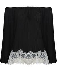 Jelena Bin Drai - Adia Off Shoulder Pleated Top - Lyst