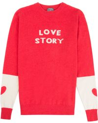 Orwell + Austen Cashmere - Love Story Sweater Red - Lyst