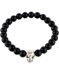 LÁTELITA London - Skull Bracelet Sterling Silver Matte Black - Lyst