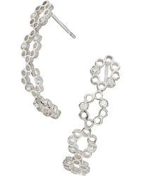 Muscari Jewellery - Tilegree Curved Earrings - Lyst