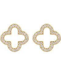 LÁTELITA London - Open Clover Earring Gold - Lyst