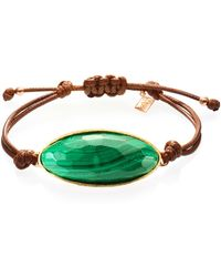 Ona Chan Jewelry - Lattice Corded Bracelet Malachite - Lyst