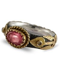 Emma Chapman Jewels - Pink Sapphire & Diamond Treasure Gold Ring - Lyst