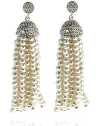 Cosanuova - Sterling Silver Pearl Tassel Earrings In Rose Gold - Lyst