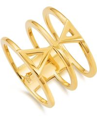 Kasané - Yellow Double Triangle Ring - Lyst