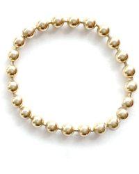 Alice Eden - Dot Dash Ball Chain Ring - Lyst