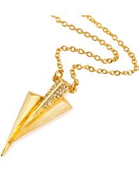 Ona Chan Jewelry - Three Dagger Necklace Gold With Swarovski Crystals - Lyst