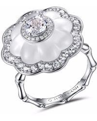 JAMES GANH - Ring Pendant White - Lyst
