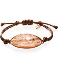 Ona Chan Jewelry | Lattice Corded Bracelet Gold | Lyst