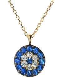 Talia Naomi - Evil Eye Necklace - Lyst