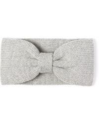 Alma Knitwear - Bow Merino Earwarmer Light Grey - Lyst