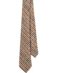 EZRA AMARFIO - Brown Pure New Wool Gun Club Tie - Lyst