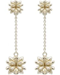 Fou Jewellery - Flowerbomb Drop Earrings In Sterling Silver - Lyst