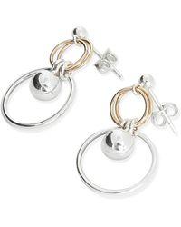 Alison Fern Jewellery - Frankie Silver & Gold Stud & Ball Earrings - Lyst