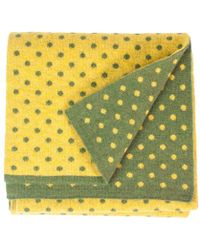 40 Colori - Green Mustard Dotted Wool & Cashmere Scarf - Lyst