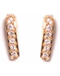 XISSJEWELLERY - Gold & Diamond En Pointe Studs - Lyst