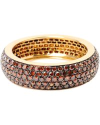 Artisan - 14k Gold Full Eternity Womens Band With Brown Diamonds - Lyst