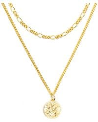 Serge Denimes - Gold St Christopher Multi Chain Necklace - Lyst