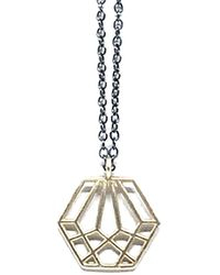 Dream of Songs - Hexagon Charm Necklace Silver - Lyst