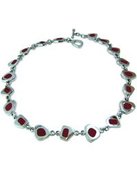 Jan D - Red Resin Necklace - Lyst