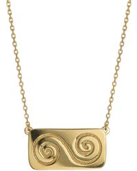 Liwu Jewellery - Growth Double Spiral Gold Necklace - Lyst