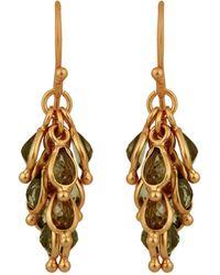 Carousel Jewels - Peridot Cluster Earrings - Lyst
