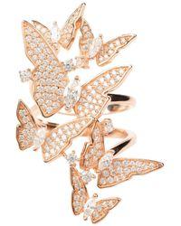 LÁTELITA London - Flutter By Butterfly Cocktail Ring Rosegold - Lyst