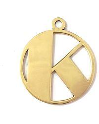 Alice Eden   Gold Deco Initial K Pendant Necklace   Lyst