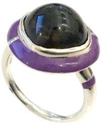 S/H KOH - Purple Serendibite Silver Ring - Lyst