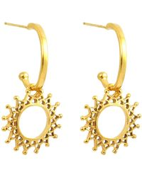 Annabelle Lucilla Jewellery - Aphrodite Charm Hoops Gold - Lyst