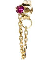 Irena Chmura Jewellery - Magenta Sapphire Chain Earring Single - Lyst