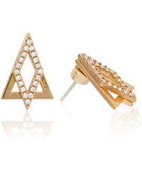 Astrid & Miyu - Diamond Ear Jacket In Gold - Lyst