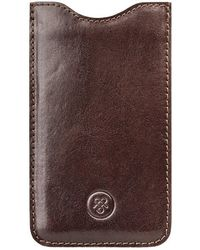 Maxwell Scott Bags - Luxury Brown Leather Samsung Galaxy S7 Phone Sleeve The Sasso - Lyst