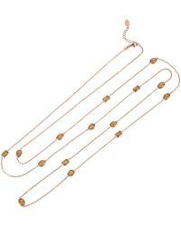 LÁTELITA London - Venice 120cm Long Chain Necklace Rosegold Smokey Quartz - Lyst