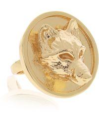 Alexa K - Gold Wolf Signature Ring - Lyst