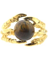 Tessa Metcalfe - Pearl Of London Tigers Eye Gold - Lyst