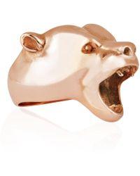 Strange Fruit - Bear Ring Rose Gold - Lyst