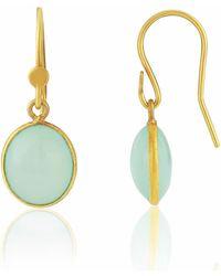 Auree - Pollara Gold Vermeil & Aqua Chalcedony Drop Earrings - Lyst