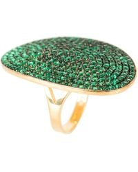 LÁTELITA London - St Tropez Ring Gold Emerald Zircon - Lyst