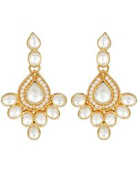 Carousel Jewels | Elegant Crystal & Pearl Drop Earrings | Lyst
