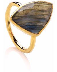 Dione London - Celeste Labradorite Trigon Cocktail Ring - Lyst