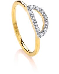 Dione London - Nyx Diamond Crescent Ring - Lyst