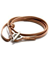 JAM MMXIV - Camel Multi-wrap Leather Bracelet - Lyst