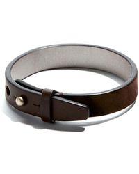 JAM MMXIV - Deep Brown Suede Single Wrap Bracelet - Lyst
