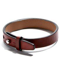 JAM MMXIV - Cordovan Leather Simple Bracelet - Lyst