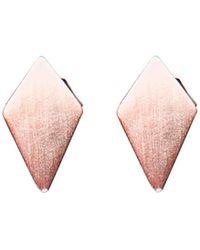 Dutch Basics - Ruit Stud Earrings - Lyst